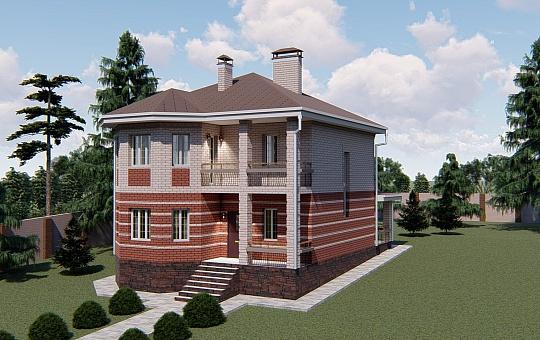 Проект двухэтажного дома DS-2-020