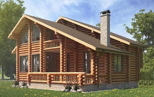 Проект одноэтажного дома с мансардой  DS-1-615
