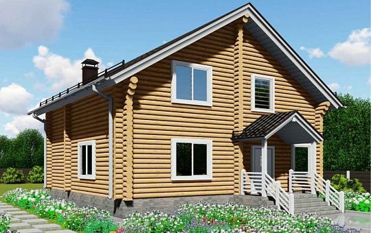 Проект трехэтажного деревянного дома с мансарадой DS-3-168