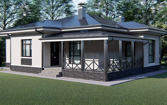 Проект одноэтажного дома DS-1-034