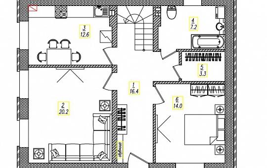 Проект двухэтажного дома DS-2-029