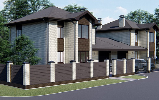 Проект двухэтажного дома DS-2-032