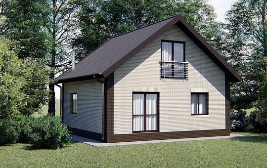 Проект одноэтажного дома с мансардой DS-1-035