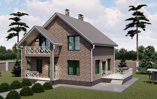 Проект двухэтажного дома DS-2-019