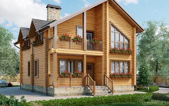 Проект одноэтажного дома с мансардой  DS-1-613