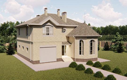 Проект двухэтажного дома DS-2-197