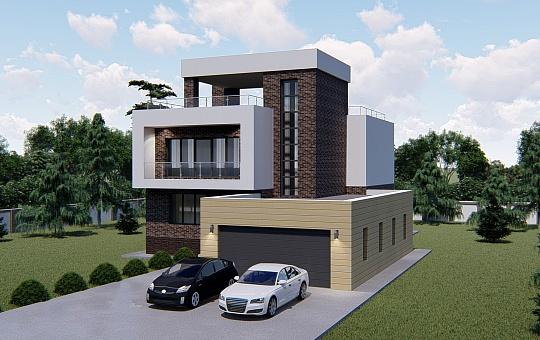 Проект двухэтажного дома DS-2-024