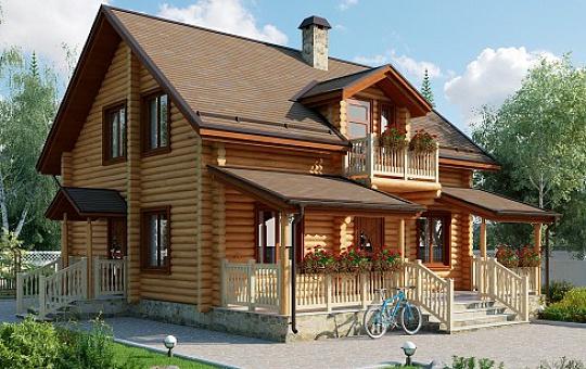Проект одноэтажного дома с мансардой DS-1-606