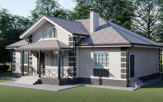 Проект одноэтажного дома DS-1-033
