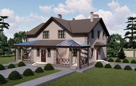 Проект двухэтажного дома DS-2-018