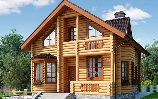 Проект одноэтажного дома с мансардой DS-1-610