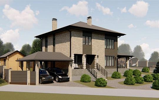 Проект двухэтажного дома DS-2-198