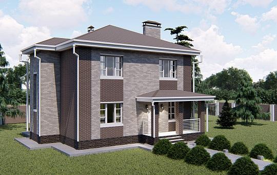 Проект двухэтажного дома DS-2-017