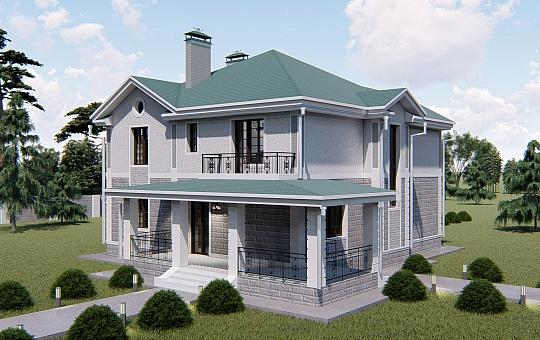 Проект двухэтажного дома DS-2-021