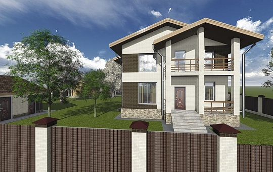 Проект двухэтажного дома DS-2-107