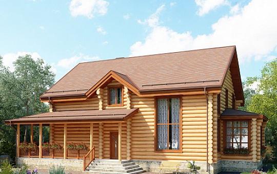 Проект одноэтажного дома с мансардой DS-1-607
