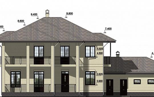 Проект двухэтажного дома DS-2-031