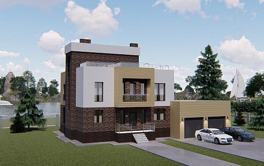 Проект двухэтажного дома DS-2-016