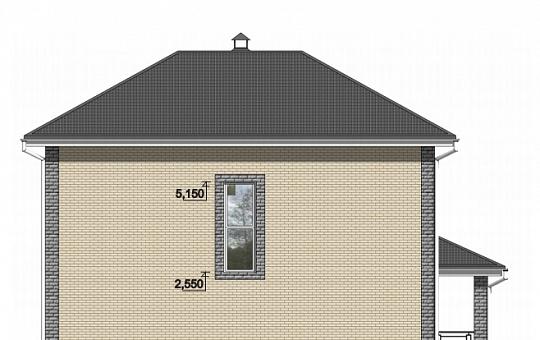 Проект двухэтажного дома DS-2-030