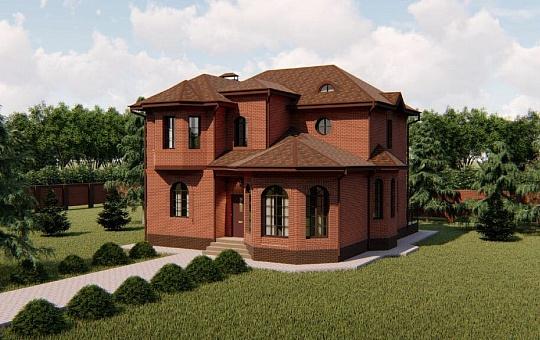 Проект двухэтажного дома DS-2-195