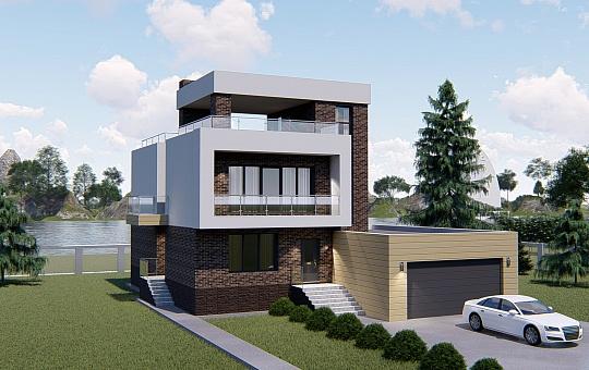 Проект двухэтажного дома DS-2-015